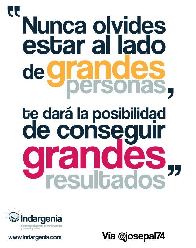 ¡Buenos días! Nunca olvides estar al lado de grandes personas, te dará la posibilidad de conseguir grandes resultados #FelizMiércoless #disfrutadelavida