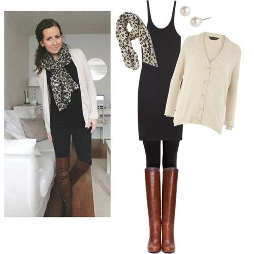 Jeg elsker skjerf, fall, leopard, enkelhet og støvler .. Derfor elsker jeg dette …  I love scarves, fall, leopard, simplicity, and boots.. Therefor, I love this outfit.