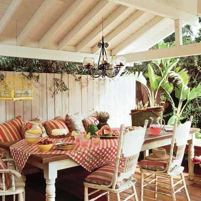 Park your vehicle in the driveway and your dining table in the shade. Bonus: Because it's protected from the elements, you can also make this your rainy-day outdoor retreat. No cost. | Photo: Mark Lohman | thisoldhouse.com