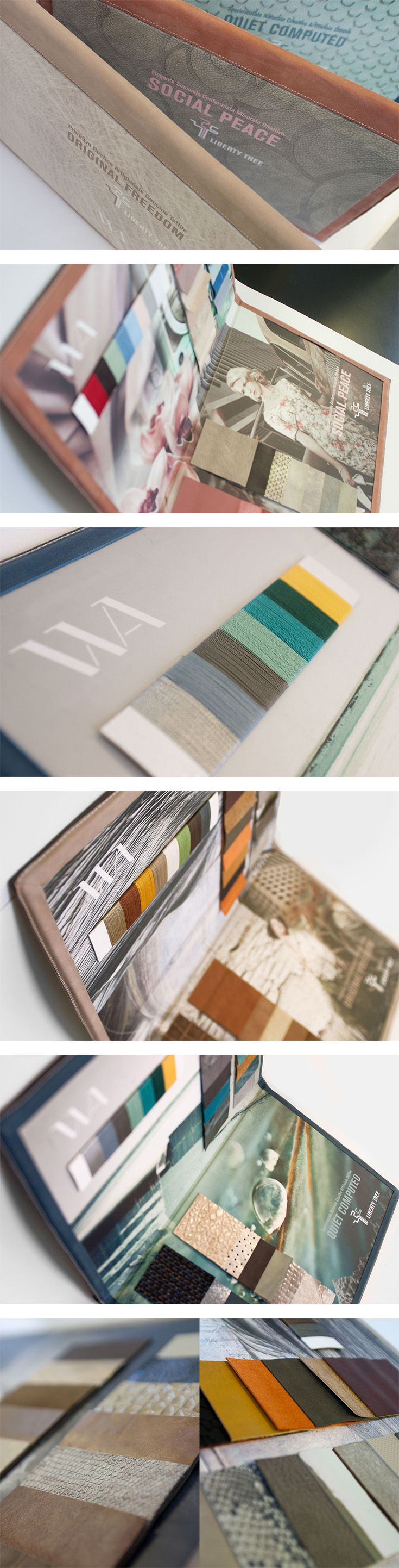 Packaging per Weare, un progetto #effADV - Weare packaging, effADV project - #packaging #book #colors #fabrics #samples