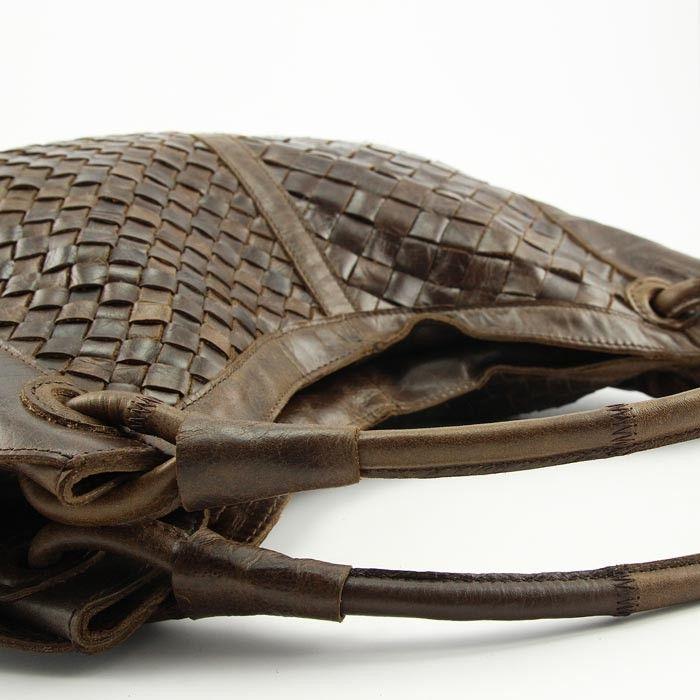 designertasche luxus italienische echt leder handtasche geflochten ledertasche vera pelle. Black Bedroom Furniture Sets. Home Design Ideas