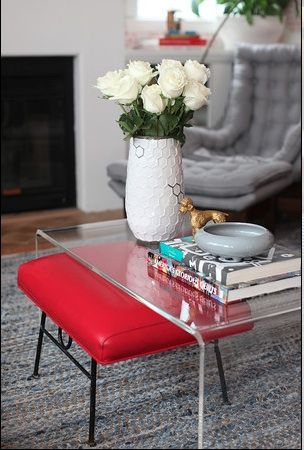 emily henderson. lucite coffee table
