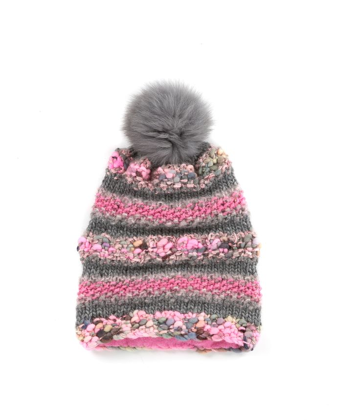 KNIT BEANIE CAP FOR WOMEN in Pink Tweed  - The GŌBLE Women Knit Beanie Cap is a luxurious soft blend of merino wool, alpaca, silk and mohair HAND KNIT IN CANADA   GOBLE.CA