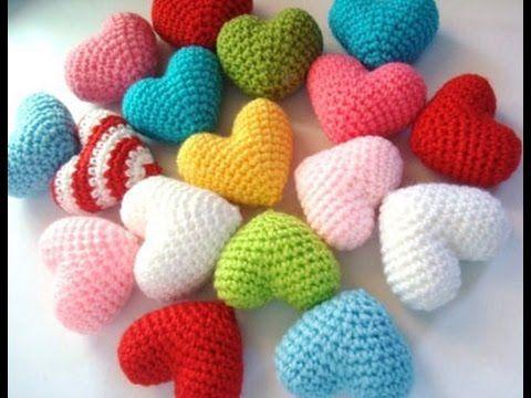 ♥Объёмное сердечко крючком♥сердце амигуруми♥Volumetric heart Valentine♥Объёмное сердце. - YouTube