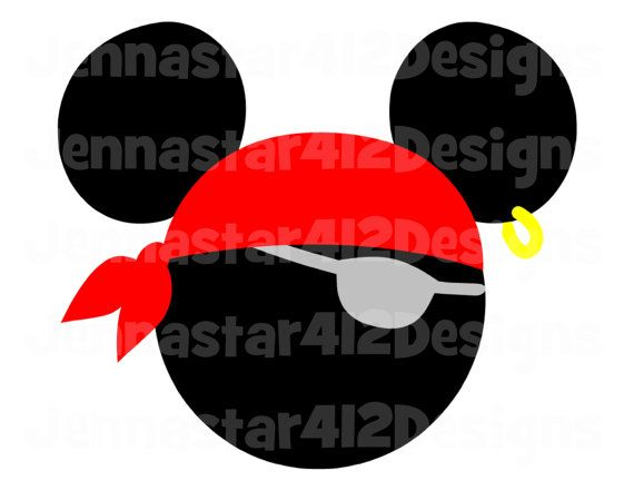 Disney Mickey Pirate bricolage fer imprimable sur transfert de fichiers numériques