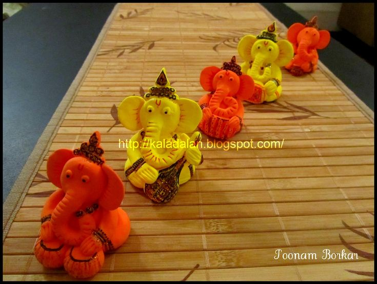 Kala Dalan: Musical Ganesha made using Air Dry Clay