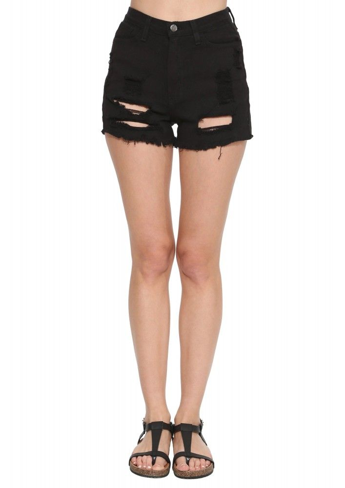 Dark Knight High Waist Denim Shorts