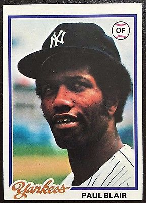 1978 #topps paul #blair yankees #114 #baseball card,  View more on the LINK: http://www.zeppy.io/product/gb/2/152099590050/