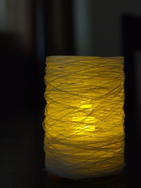 String lightsThread Led, Led Tealight, Diy Crafts, Candle Holders, Lights Covers, Candles Holders, Soft Lights, Teas Lights, Diy Centerpieces
