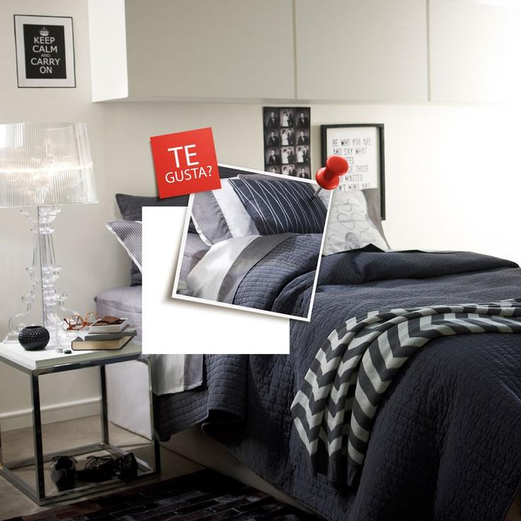 Ropa de cama negra, ¿Te gusta? Participa por uno http://eres.ripley.cl/