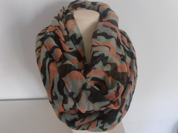 Army Camouflage Print Military Scarf by AngelinaAccessories, $19.99