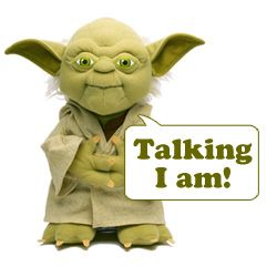 Talking Yoda Plush Doll - Star Wars Talking Yoda Toy