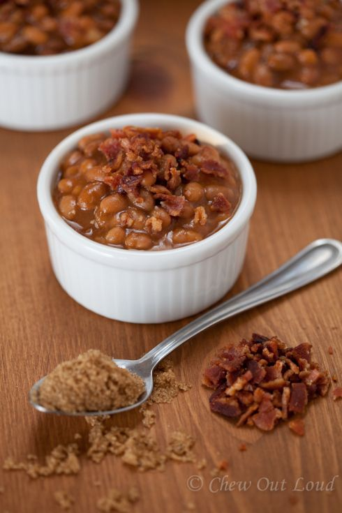 Brown Sugar Baked Beans with Bacon RECIPE NOTES: Made this for a BBQ and they were so good the pot was empty before I even got to eat any. Lucky for me, I had snuck a little mug full while cooking. Definitely a go-to recipe.