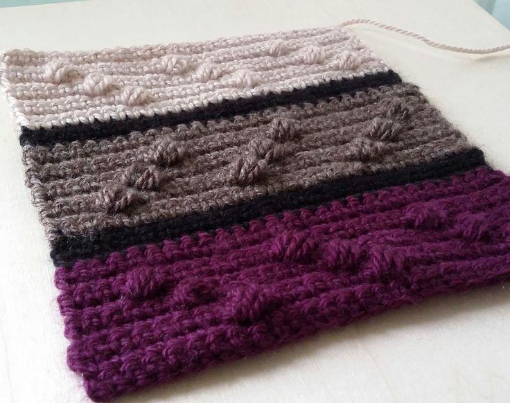 مربع كروشيه خطوة بخطوة Crochet square photo tutorial