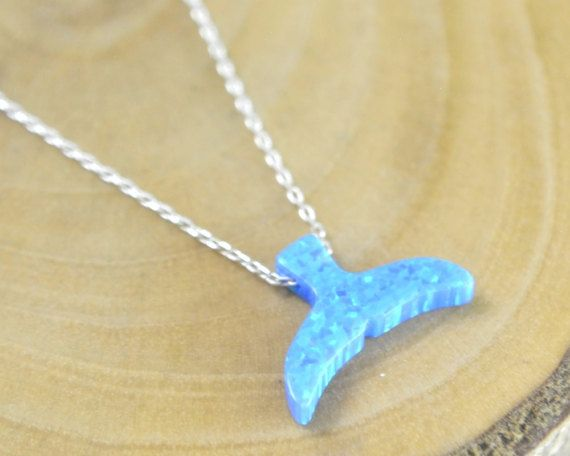 #OPAL FISH TAIL Jewelry, fish tail necklace, #blue fish tail luck charm, silver opal tail necklace, mermaid fishtail, #sealife jewelry, whale tail necklace, ocean necklace, shark fashion, kids gift, sea nature necklace, silver tail