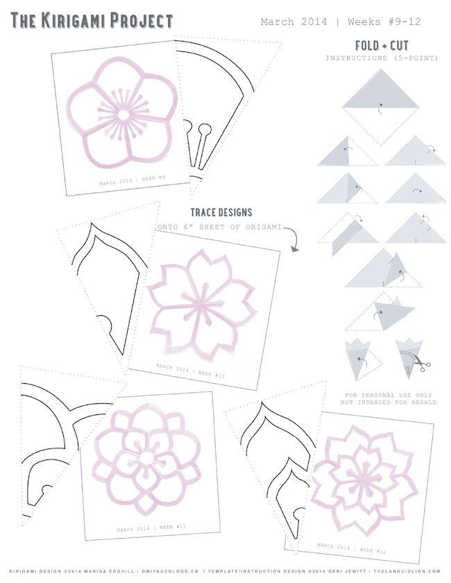 Omiyage Blogs: The Kirigami Project - Week 12 - Double Sakura