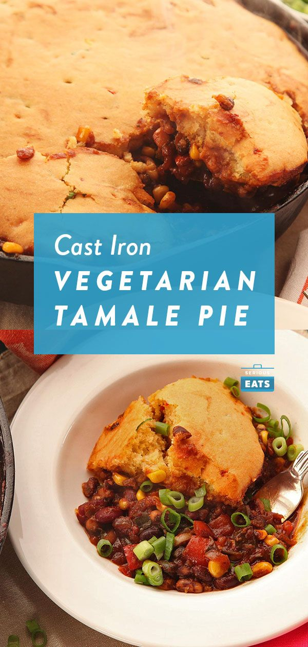 Quick And Easy Vegetarian Tamale Pie With Brown Butter Cornbread Crust Recipe Recipe Tamale Pie Vegetarian Tamales Tamales