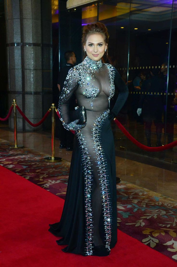 Actress Kristel Moreno in a black see-through gown at the ...