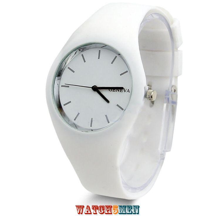 Geneva+Ice+White+идеально+подойдет+к+любому+наряду+в+летнюю+пору.+Часы+регулируемой+длины+для+девушек+и+мужчин.
