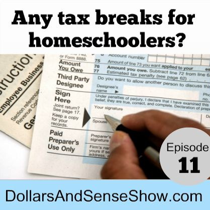 In this episode of the Dollars and Sense Show host Carol Topp discusses tax breaks for homeschoolers.  [display_podcast] Show Notes: There is no federal tax credit or deduction for homeschool expenses Some states do allow a deduction, usually on state income tax. Proposed in Ohio: Property tax deduction for homeschool expenses Arizona, Illinois, Indiana, Iowa, […]