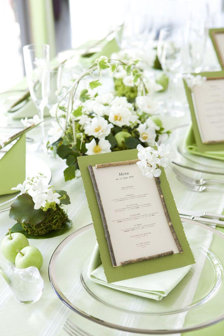 画像 : ナプキン・メニュー表まで・・素敵な披露宴のテーブルコーディネート - NAVER まとめ
