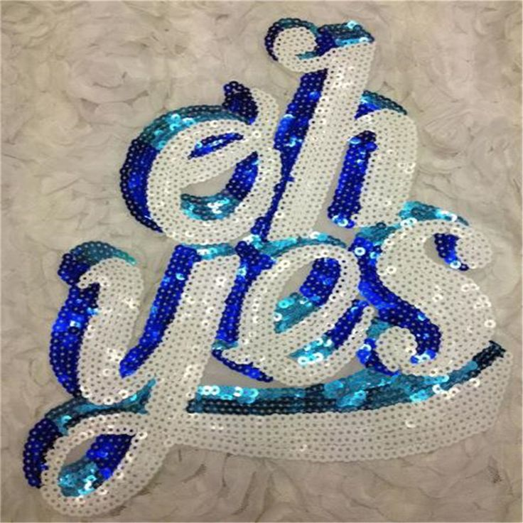 Aliexpress.com : Buy sequins letter brand iron on patches for clothes Sew on embroidered patch motif applique deal with it clothing free shipping from Reliable iron on embroidered patch suppliers on Professional store patch