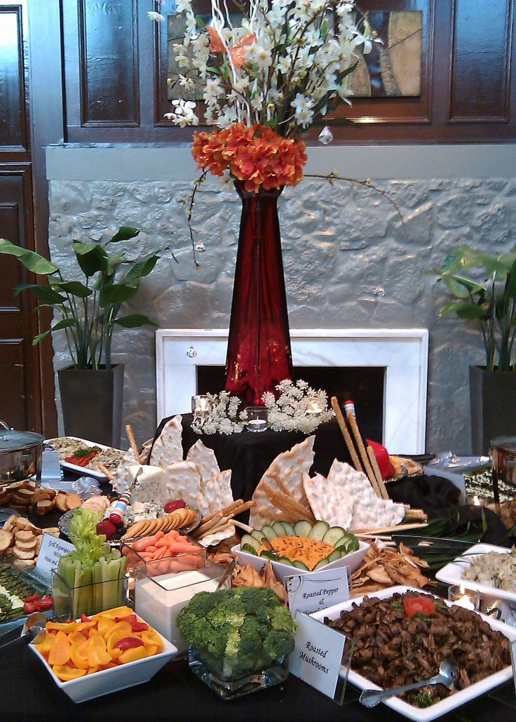 Appetizer table weddings decorations buffets more for Appetizer decoration