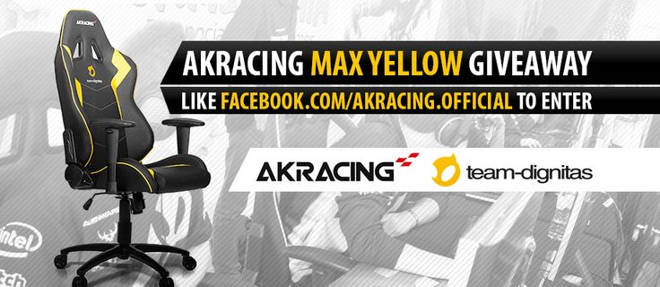 Team Dignitas has teamed up with AKRacing to do a giveaway for a AKRacing Max Yellow Team Dignitas Edition Chair. #giveaway #gaming #chair