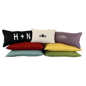 Gift idea for the new home owner: Chooty & Co. Linen Pillow with Free Monogram.