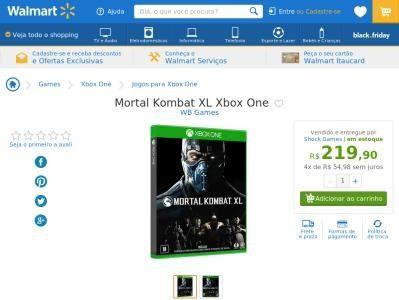 [Wal-Mart] Mortal Kombat XL Xbox One 3290624 - de R$ 219,90 por R$ 219,90