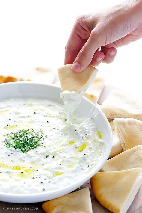 Tzatziki Sauce -- easy to make, and perfect as a dip or sauce! | gimmesomeoven.com