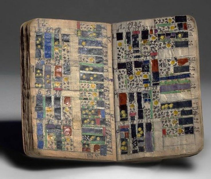 """Jean Fick my God/world [mondieu] ambassador N. 23"". The notebook was apparently in Fick's possession when he was a soldier. Outsider Art's photo."