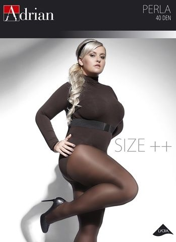 Tights, 40 den. Klassisk utseende. Plus size.