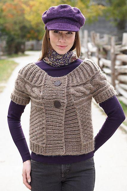 Ravelry: Cable Yoke Sweater pattern by Bernat Design Studio