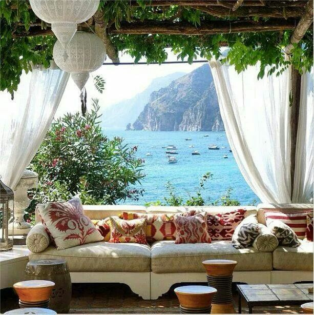 Positano, Italy. Positano is a village on the Amalfi Coast, an enclave in the hills leading down the coast.