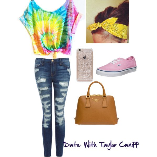 Date with taylor Caniff  by tori-johnson1 on Polyvore featuring polyvore, fashion, style, Current/Elliott, Vans, Prada and Rifle Paper Co