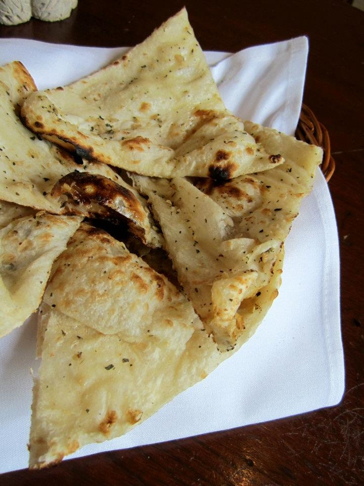 MAURYA'S SPICE package!   Garlic and Basil Naan, Indian leavened bread flavoured with chopped garlic and basil.  www.vaneats.ca