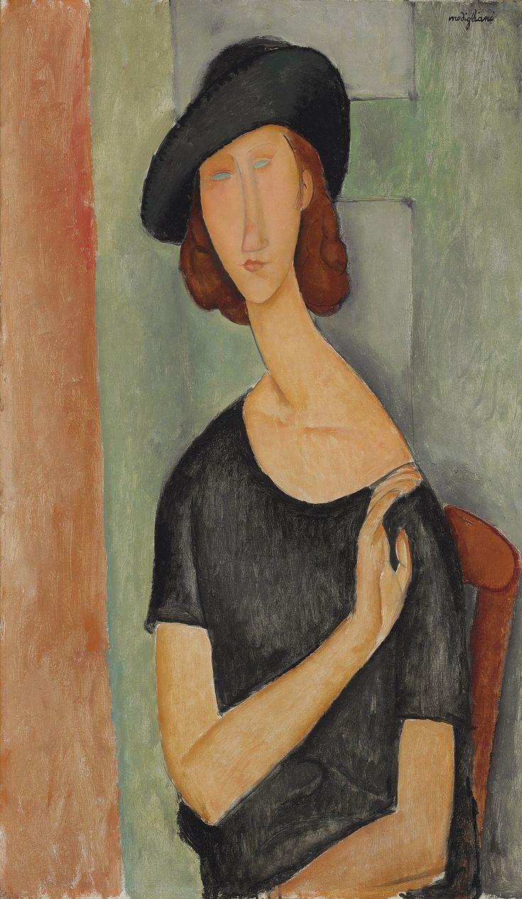Ritratto di Jeanne Hebuterne con il cappello di Amedeo Modiglianii 1919