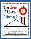 The Core at Home: Literacy Log product from Erin-Wing on TeachersNotebook.com
