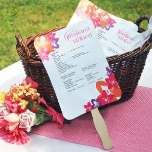 Destination Wedding ♥ Beach Wedding ♥ Elegant Fans & Programs