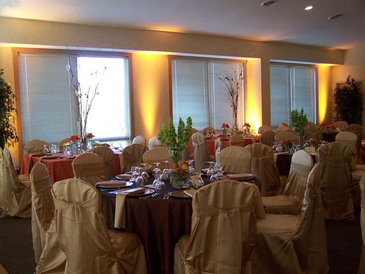 Wedding Reception Uplighting - Gives the room a whole new look!