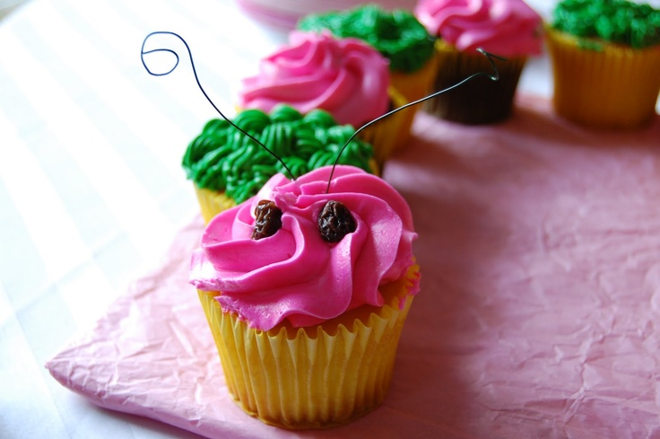 Cupcake Caterpillar that I made for Kaia's garden party theme...