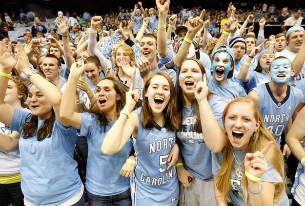 """Embracing your fellow Tar Heel at a gaming event while singing """"Hark The Sound"""" was always a touching moment. 