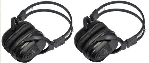 2 Pack of Two Channel Folding Universal Rear Entertainment System Infrared Headphones Wireless IR DVD Player Head Phones for in Car TV Video Audio Listening. For product info go to:  https://www.caraccessoriesonlinemarket.com/2-pack-of-two-channel-folding-universal-rear-entertainment-system-infrared-headphones-wireless-ir-dvd-player-head-phones-for-in-car-tv-video-audio-listening/