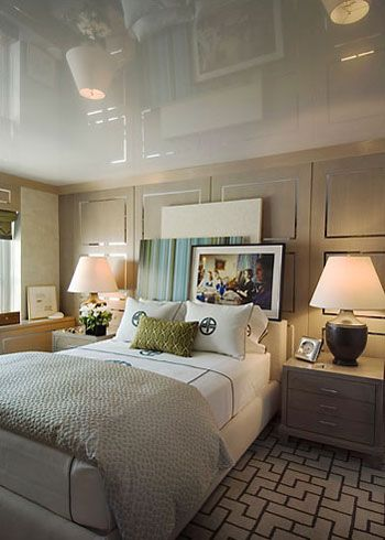 Design by Phillip Gorrivan: High Gloss, Gloss Ceilings, Lacquer Ceilings, Highgloss, Gray House, Master Bedrooms, Contemporary Art, Home Decor, Glossy Ceilings