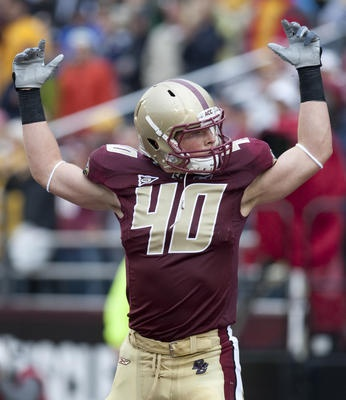 Luke Kuechly of Boston College selected 9th overall in the 2012 NFL Draft by the Carolina Panthers
