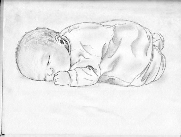 Image result for pencil art of baby mermaids   Baby sketch ...