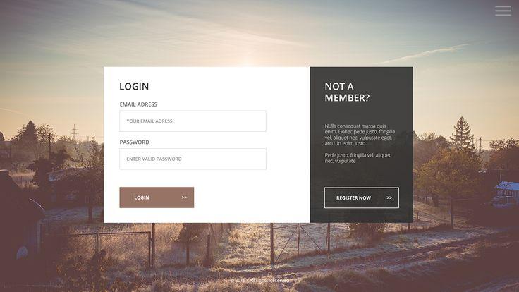 Login / Register Page on Behance