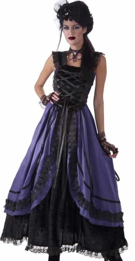 07ff315f0 Saloon Girl Costume Dress Sexy Womens Purple Western Can Can Burlesque  Westworld | Clothing, Shoes & Accessories, Costumes, Reenactment, Theater,  Costumes ...