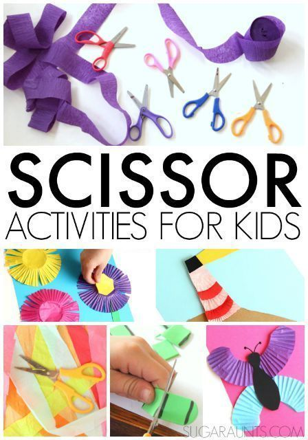 Scissor activities and crafts for kids who need to work on scissor accuracy and line awareness, bilateral hand coordination, and the fine motor skills needed in